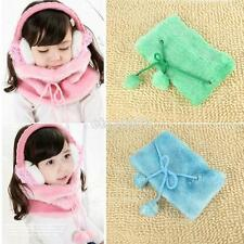 Fashion Baby Kids Winter Warm Plush Scarf Shawl Candy Color Butterfly Knot New