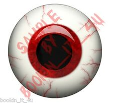 Red round human / evil vinyl eye decal set-15 different sizes to choose from  #3