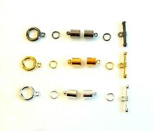 3 x Kumihimo Findings Kits -Toggle Clasp-Rings-Glue in End Caps - lady-muck1