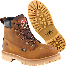 """Men Work Boots Red Wing Irish Setter Waterproof 6"""" Safety Toe Boot 83614 Brown"""