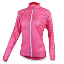 Pink Women's Sports Outdoor UV Protection Wind Waterproof Coat Jacket XS~M