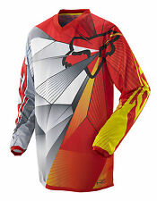 NEW 2014 FOX RACING YOUTH BOYS BMX MX ATV RED YELLOW HC RADEON JERSEY SHIRT