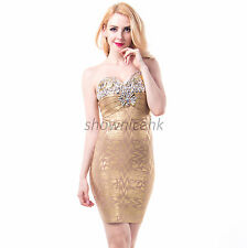 Free Shipping ladies beaded viscose bandage bodycon party dress sexy strapless