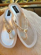 GRANDCO SANDAL MOONLIGHT THONG WHITE SOLE