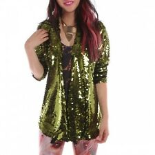IRON FIST GLITZY GREEN LADIES SWEATER (B16B)