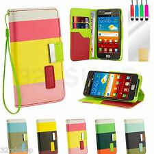 WALLET LEATHER CASE COVER FOR SAMSUNG GALAXY S2 i9100 SCREEN GUARD
