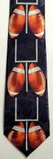 NEW! Lots of FOOTBALLS and Goal Posts Sports Coach Novelty Necktie  1682