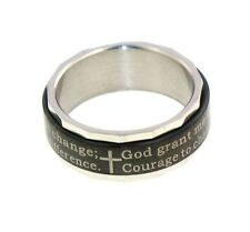 SERENITY PRAYER SPINNER RING SIZES 5-14 AA RECOVERY