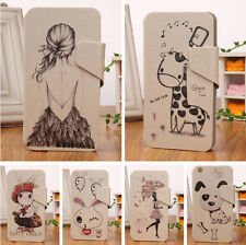 Leather Wallet Case Cover Skin Stand DESIGN For Alcatel One Touch Idol OT 6030D