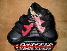 NEW VANS BIG SCHOOL FLAME SHOES BLK/RED TODDLER BOYS SZ  5, 5.5, 6, 6.5, 8.5