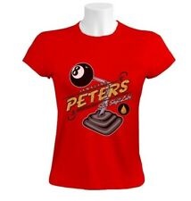 Sex Amazing Peters Stick Shift Lube 8 Ball Women T-Shirt Auto Silly Rude