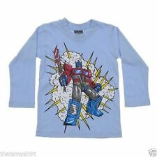 New Authentic Monster Republic Optimus Prime Blue Boys Long Sleeve Shirt