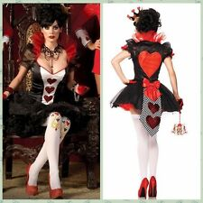 Sexy Red Queen of Hearts Costume Alice Wonderland Dress Party Dress