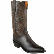 Lucchese 1883 N1556.54 Mens Chocolate Brown Burnished Goat Boots Made in USA