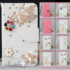 Luxury Bling Diamond Wallet Leather Hard Case Fr LG Optimus L5 E610 E615 E612