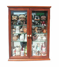 Double Door Wall Curio Cabinet Display Case for Figurines and Miniatures CD05B