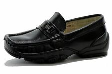 Easy Strider Boy's The Accelerated Fashion Loafer School Black Uniform Shoes