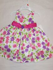 BNWT GIRLS  PURPLE & PINK FLORAL DRESS - SIZE 2 TO 7