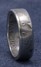 1967 JFK Kennedy 40% Silver US Half Dollar Double Side Coin Ring Unique Men Gift
