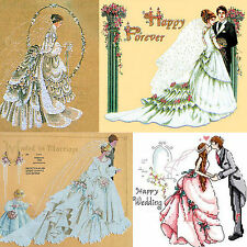 Needlepoint Complete Counted Cross Stitch Kits Wedding Day Theme Bride, Groom