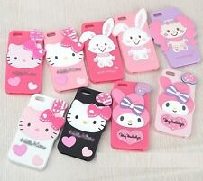 iPhone 5 5s 4 4s Cute HK melody Cartoon 3D Silicon Back Case Cover Skin