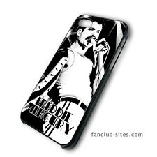 Vintage Rock Mercury4 Queen Band iphone 4 4g 4s 5 & galaxy S3 S4 hard case cover