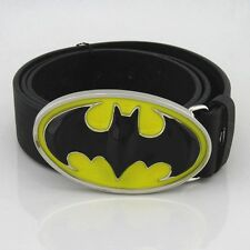 New Costume Western  Batman 3D Classic Mens Metal Belt Buckle Leather