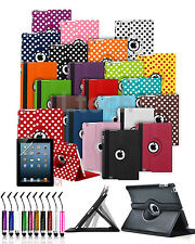 360° Rotating Swivel PU Leather Tablet Folio Case Stand Cover & Mini Touch Pen