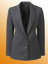 New JD Williams Ladies Blazer Smart Jacket Size 12 UK Black Stripe
