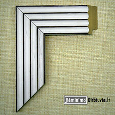Wavy white CUSTOM SIZE wooden frame Any size! Made in Europe! Good price!