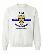 """2ND HEAVY CAVALRY DIVISION"""" BUFFALO SOLDIERS""""  BATTLE & CAMPAIGN SWEATSHIRT"""