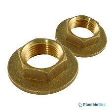 "PAIR REPLACEMENT SOLID BRASS 3/4"" BSP BATH TAP BACKNUTS - MULTIBUY"