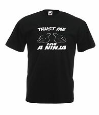 TRUST ME IM A NINJA funny game NEW Boy Girls Kids size T SHIRT TOP Age 1-15 Year