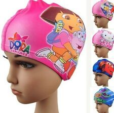 Cute Swimming Cap Digital Printing Children's  Flexibility Cartoon Swimming Cap