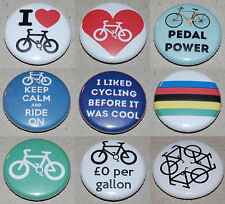Cycling Button Badge 25mm / 1 inch - Choose from 9 designs! Bicycle Bike