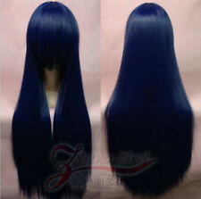 free gift + 80CM Long straight Cosplay Party Wig Many Colors