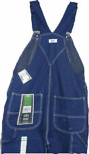 Liberty Dark Blue Denim Bib Overalls,  Green Zippered Bib Pocket   W 30 to W 60