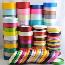 "25Yard/1roll Mix Color/Size Satin Ribbon From1/4"" to 2"" Craft Wedding D001-D182"