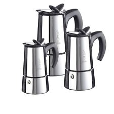 Bialetti Musa Elegance - 2, 4, or 6 Cup Stainless Steel Espresso Coffee Maker