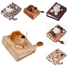 "Soft Plush Velour Animal Toys Kids Photo Album Covers Holder For Photo 2.5""X3.5"""