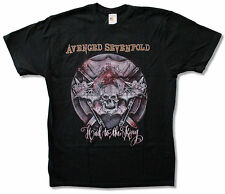 "AVENGED SEVENFOLD ""HAIL TO THE KING"" BLACK SLIM FIT T-SHIRT NEW OFFICIAL ADULT"