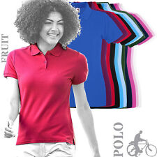 Fruit Of The Loom - 63030 - Ladies Ladyfit Premium Cotton Polo Shirt (11 Cols)