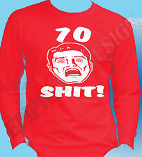 70th Birthday T-Shirt Long Sleeve Any Year Seventy Years Old 75th 76th 77th 78th