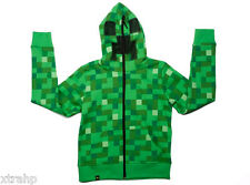 Minecraft Creeper Zip Up Hoodie Youth Boy Kids Costume Officially Licensed Jinx