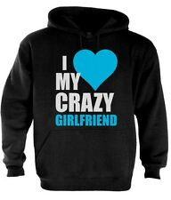 I Love My Crazy Girlfriend Couple Matching Hoodie Cute V-day Gift Idea