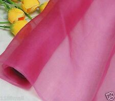 By 0.5 Yard Light Weight 100% Pure Silk Organza Fabric Vitrual Pink Voile Sheer