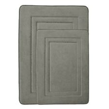 Gray Memory Foam Bathroom Mat/rug: Non-Skid Backing, Ultra Soft Microfiber