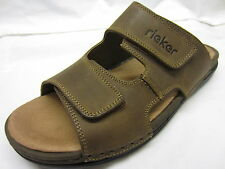 Rieker '25592-25' Mens Brown Leather Sandals