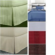 Charter Club Damask Stripe Bedskirt Blue/Green/White/Tan King/Queen/Full/Twin