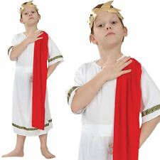 Boys Roman Emperor King Toga Caesar Greek Childs Kids Fancy Dress Costume Outfit